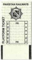 Pakistan Railway Passenger Platform Ticket For Used LAHORE RAILWAY  STATION 2013 - Railway
