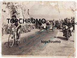Photo Dédicacée Autographe Raphaël Géminiani Coureur Cycliste Cyclisme 1952 Milan San Remo - Autógrafos