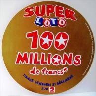 PUBLICITE FDJ FRANCAISE DES JEUX AFFICHE DIAM.29cm L´AN 2000 LOTERIE NATIONALE GRATTAGE ASTRO MILLIONNAIRE... FRANCE 2