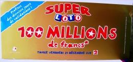 PUBLICITE FDJ FRANCAISE DES JEUX AFFICHE 44X19cm L´AN 2000 LOTERIE NATIONALE GRATTAGE ASTRO BANCO MILLIONNAIRE FRANCE 2