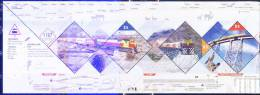 """Argentina 2011 ** Minipliego """"Tren A Las Nubes"""", See Description. - Hojas Bloque"""