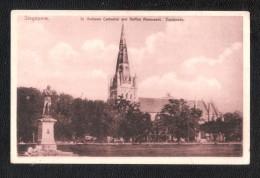 SINGAPOUR  SINGAPORE  St . Andrews Cathedral And Raffles Monument Esplanade Unused - Singapour