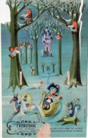 Distribué Par L'Alsacienne, Ce Carton Prédécoupé Permettrait La Création D'un Petit Diaporama - Publicités