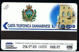 07 - SAN MARINO - TESSERA TELEFONICA NO. 18  NUOVA - Saint-Marin