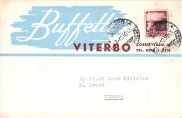 1156 01 VITERBO BUFFETTI X VERONA - PUBBLICITA´ ADVERTISING PUBLICITE' REKLAM WERBUNG PUBLICIDAD - Sin Clasificación