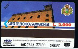 07 - SAN MARINO - TESSERA TELEFONICA NO. 21  NUOVA - San Marino