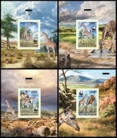Nig13101dulex2 Niger 2013 WWF Giraffes 4 Dulex Sheet - W.W.F.