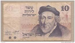 Israele - Banconota Circolata Da 10 Lirot P-39a - 1973 - Israele