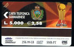 07 - SAN MARINO - TESSERA TELEFONICA NO. 40  NUOVA - Saint-Marin