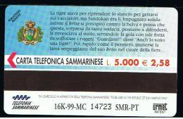 07 - SAN MARINO - TESSERA TELEFONICA NO. 43  NUOVA - San Marino