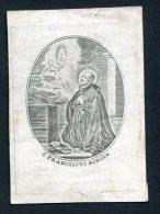 """Image Pieuse Non Canivet  1832 Amsterdam """"St François De Borgia"""" - Devotion Images"""