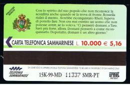 07 - SAN MARINO - TESSERA TELEFONICA NO. 44  NUOVA - Saint-Marin