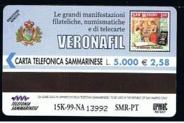 07 - SAN MARINO - TESSERA TELEFONICA NO. 45  NUOVA - San Marino