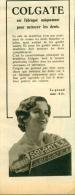 Oude Reklame Uit Tijdschrift 1932 - Colgate Dentifrice - Publicités