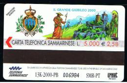 07 - SAN MARINO - TESSERA TELEFONICA NO. 52  NUOVA - San Marino