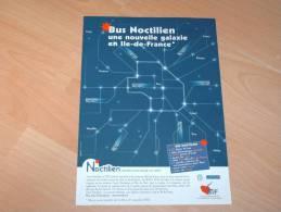 Affiche A4 RATP Noctilien Nouvelle Galaxie - Afiches