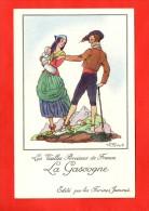 1180 - Les Vieilles Provinces De France -La Gascogne  - Illustration Jean Droit -  Edit   Farines Jammet - (recto-verso) - Illustratori & Fotografie