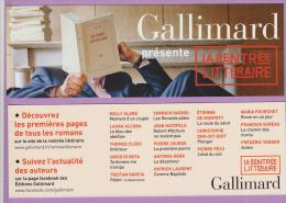 Marque-pages °° Gallimard La Rentrée Littéraire - Encadré Rouge - N.Alard Moment D'un Couple 7x21 - Marque-Pages