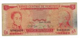 5 Bs. 1974 ,F+. - Venezuela