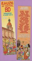 """Festival  Bande  Dessinée  22ème   """"  Eauze  -  Août  2013  """"   5 X 21 Cm - Marque-Pages"""