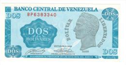 2 Bs. 1989 , UNC. - Venezuela