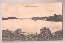 SINGAPOUR ENTRANCE TO SINGAPORE Used 1919 - Singapour