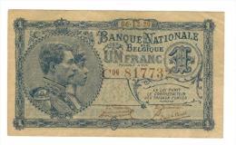 Belgium, 1 Franc, 1920, XF+. - [ 2] 1831-... : Belgian Kingdom