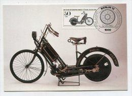 GERMANY / BERLIN-WEST - AK 175960 MC - Pc + Stamp - Hagenbach 6/83 Historische Motorräder : Hildebrand & Wolfmüller 1894 - [5] Berlijn