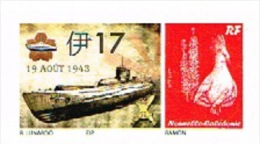 Nouvelle Caledonie Noumea Timbre Personnalise Prive M. Lunardo Sous Marin Navire Guerre Japon Nippon WW2 2013 Neuf UNC - Unused Stamps