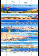 Israel 2011 Sheetlets - Beaches In Israel - Unclassified