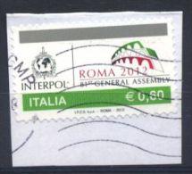 Italia Italie Italy  2012 Usato - 81ª Assemblea Generale Dell'interpol - 2011-...: Usati