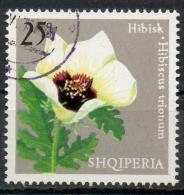Albania 1975 - Ibisco Vescicoso, Hibiscus Fiori Flowers - Albanie