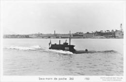 Sous-marin 365 (Marine Nationale) - Carte Photo Marius Bar - Bateau/ship/schiff - Submarinos