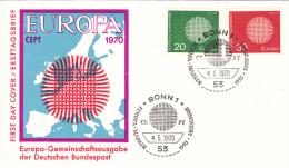 Europa 1970 - Bonn - FDC Ersttagsbrief - BRD