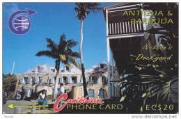 Antigua, ANT-6B, EC$ 20,  Nelsons Dockyard, 6CATB, 2 Scans . - Antigua And Barbuda
