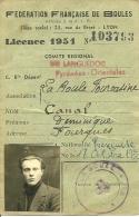 1932 - FOURQUES (66) - FÉDÉRATION FRANÇAISE DE BOULES - Carte De Membre Avec Photo - Documents Historiques