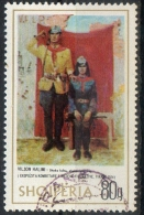 Albania 1975 - Vilson Halimi Partigiani E Bandiera Rossa, Partisan And Red Flag - Albanie