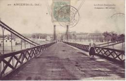 44 ANCENIS - (animé) Le Pont Suspendu - D6 - Ancenis