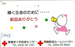 Telecarte Japon * Croix Rouge (1648) PHONECARD JAPAN * Red Cross * TELEFONKARTE * ROTES KREUZ * - Werbung
