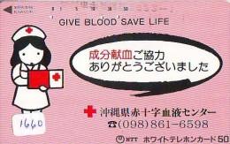 Telecarte Japon * Croix Rouge (1660) PHONECARD JAPAN * Red Cross * TELEFONKARTE * ROTES KREUZ * - Publicidad