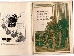 - Livre De 20 Pages -  1931 - Académie Nationale De Musique Et De Danse - Nombreuses Pub. - 069 - Programmes