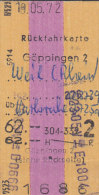 Göppingen - Weil (Rhein) über Karlsruhe Am 19.5.1972, 62,00 DM, Rückfahrkarte - Bahn