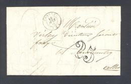 ALLIER 03 CUSSET Tad Type 15 Taxe 2  Tampon Du 16 Juin 1852  TTB - Marcophilie (Lettres)