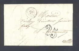 ALLIER 03 CUSSET Tad Type 15 Taxe 2  Tampon Du 16 Juin 1852  TTB - Poststempel (Briefe)
