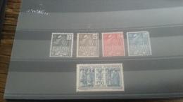 LOT 174310 TIMBRE DE FRANCE NEUF* N°270 A 274 VALEUR 60 EUROS - France