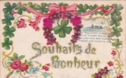 "GAUFREE 1906 ""Souhaits De Bonheur -Good Wishes  ! "" Embossed  Voir Scan - Valentine's Day"
