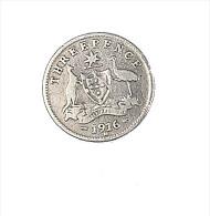 Australie - 3 Pence - 1916 M - Argent - TB+ - 1855-1910 Monnaie De Commerce