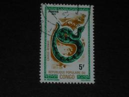 CONGO YT 289 OBLITERE - FAUNE SERPENT REPTILE - VIPERE - - Congo - Brazzaville
