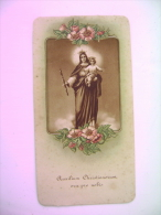 MADONNA   CON GESU' BAMBINO   ORA PRO NOBIS      ORIGINAL  ANCIENNE  PIEUSES  HOLY CARD - Devotion Images