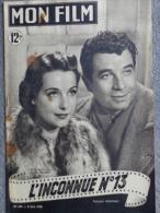 MON FILM -CINEMA- 21-6-1950- L' INCONNUE N°13- RENE DARY-MARCELLE DERRIEN-PIERRE LOUIS-SABU-DANIELLE GODET - Film/ Televisie